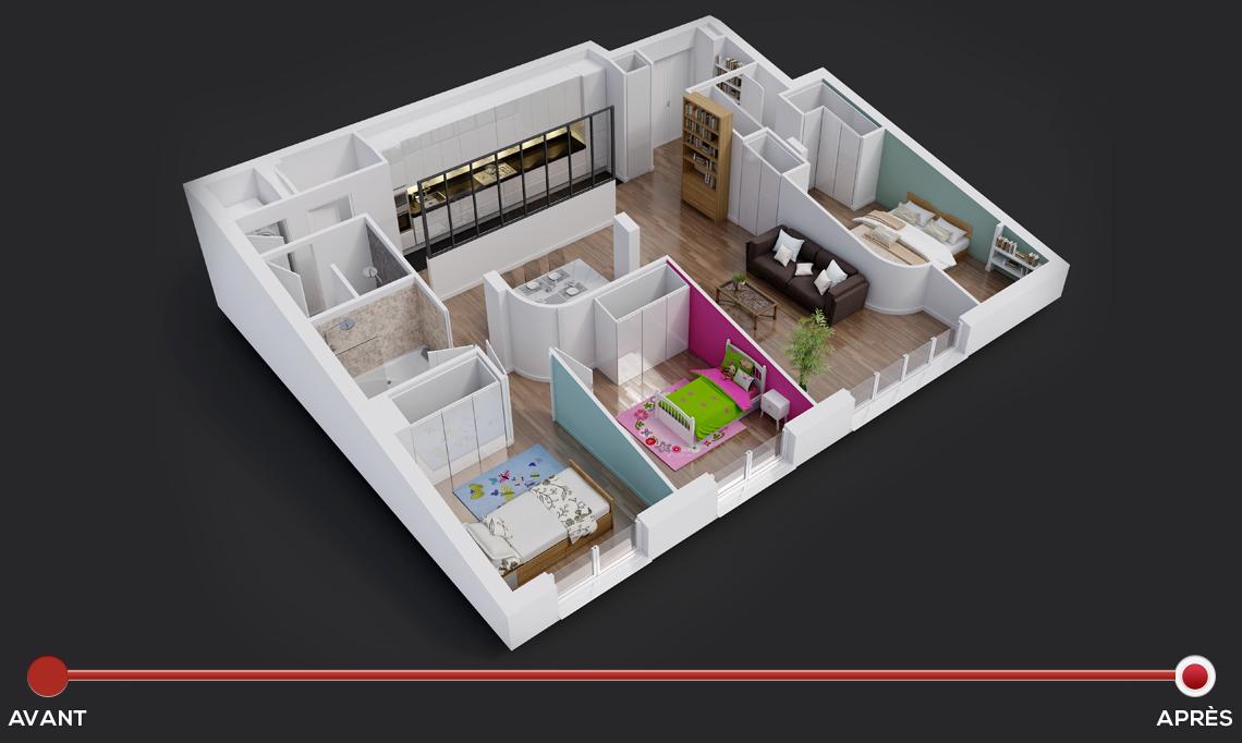 une chambre en plus. Black Bedroom Furniture Sets. Home Design Ideas